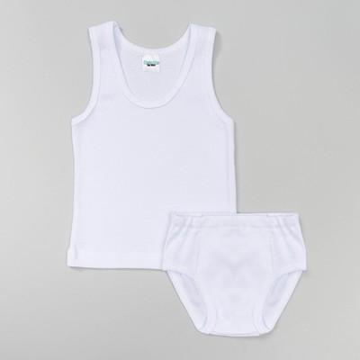 Комплект для мальчика (майка,трусы), рост 92 см, цвет белый 660/1