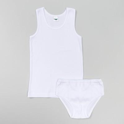 Комплек для мальчика (майка,трусы), рост 122 см, цвет белый 660/1