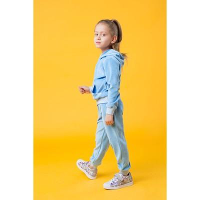 Костюм спортивный для девочки, рост 128 цвет голубой 250