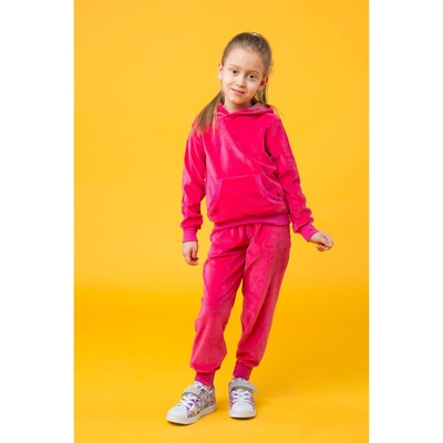Костюм спортивный для девочки, рост 128 цвет розовый 250