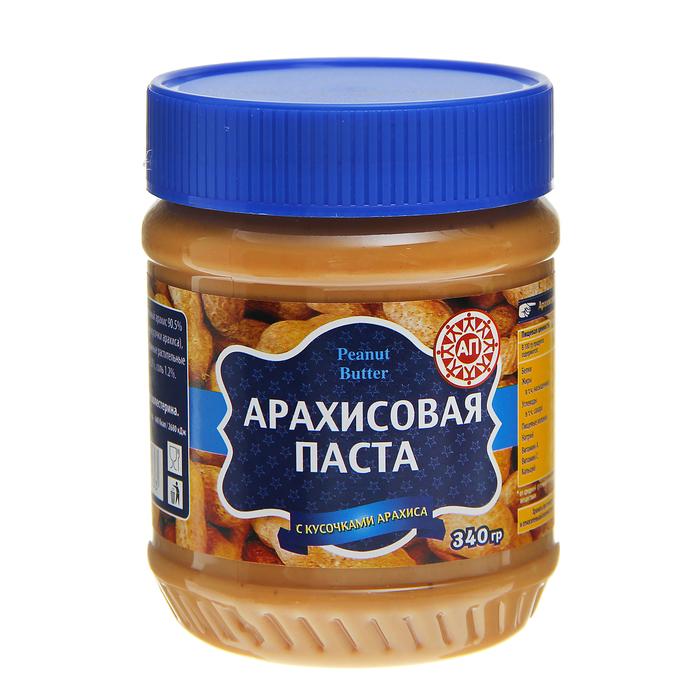 """Арахисовая паста """"Агент-продукт"""" с кусочками арахиса, 340 г"""