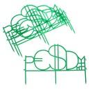 """Ограждение декоративное, 35 х 220 см, 4 секции, пластик, зелёное, """"Денежные знаки"""""""