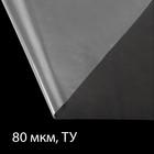 Плёнка полиэтиленовая, толщина 80 мкм, 3 × 10 м, полотно, прозрачная, 1 сорт, Эконом