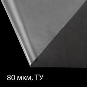Плёнка полиэтиленовая, толщина 80 мкм, 3 × 10 м, рукав (1,5 м × 2), прозрачная, 1 сорт, Эконом 50 %