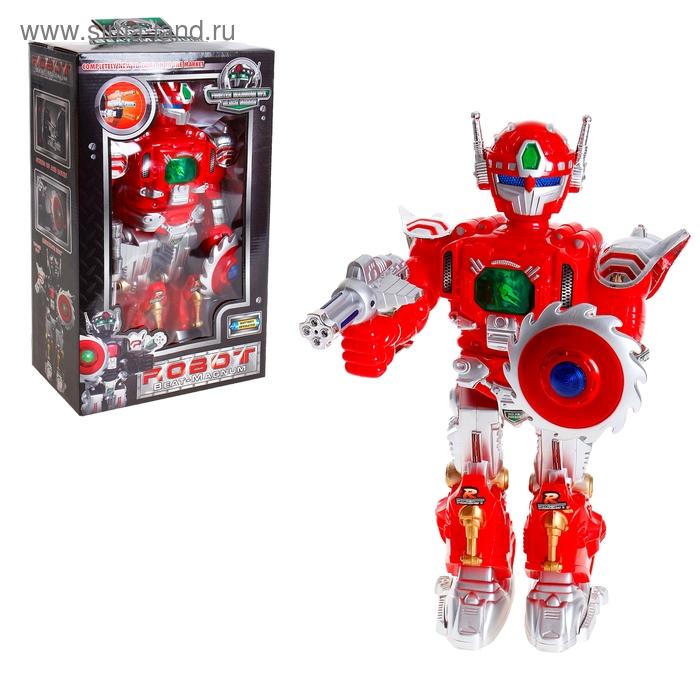 """Робот """"Защитник"""", работает от батареек, световые и звуковые эффекты, цвета МИКС"""