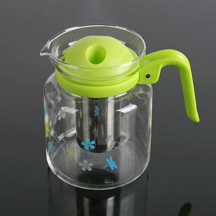 """Чайник заварочный 1,4 л """"Осень"""", цвет зеленый"""