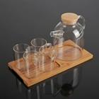 """Чайный набор """"Эко"""", 5 предметов: чайник 1,6 л, 4 кружки 300 мл"""