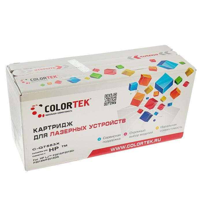 Картридж Colortek Q7553X для HP LaserJet P2015/P2015x/M2727nf/M2727nfs (7000k), черный - фото 448833847