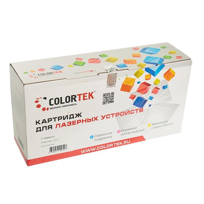 Картридж Colortek 109R00725 для Xerox Phaser 3120/3130 (3000k), черный - фото 443620864