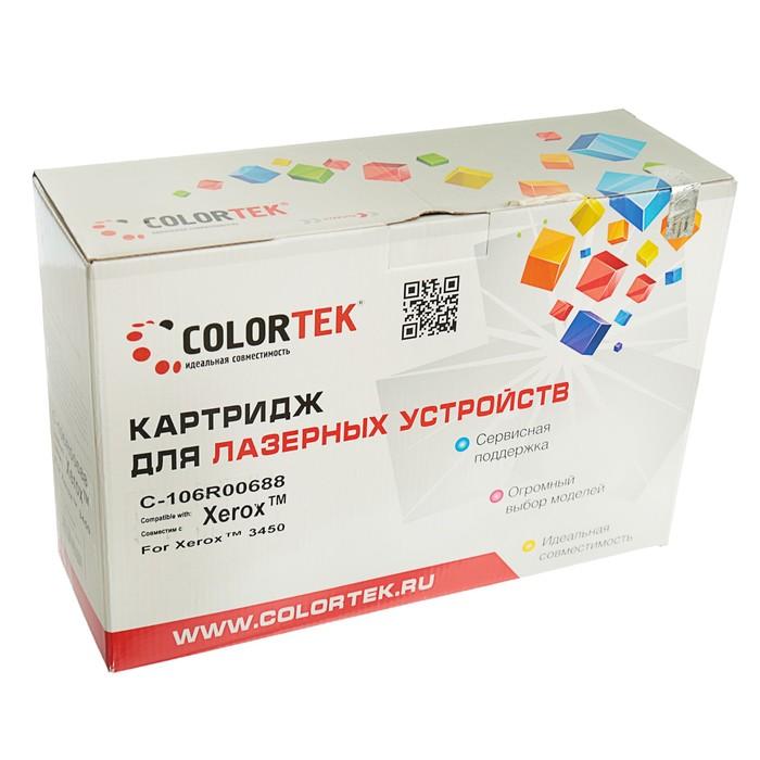 Картридж Colortek 106R00688 для Xerox Phaser 3450 (10000k), черный - фото 418337883