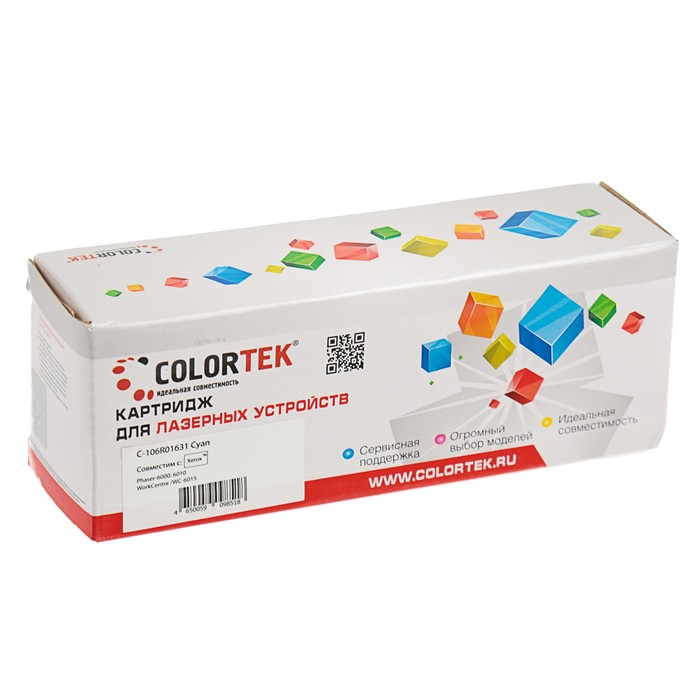 Картридж Colortek 106R01631 для Xerox Phaser 6000/6010/WorkCentre 6015 (1000k), голубой