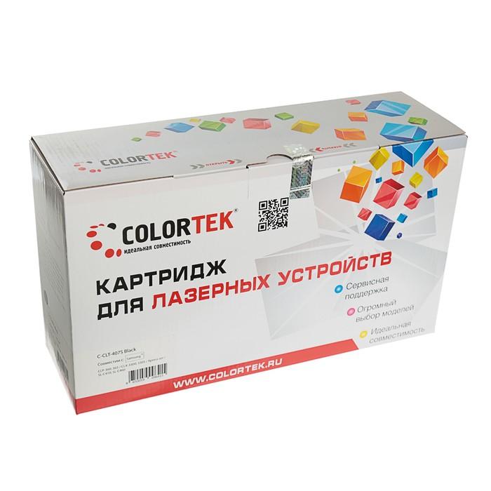 Картридж Colortek CLT-407S для Samsung CLP-320/CLP-325/CLX-3185 (1000k), черный