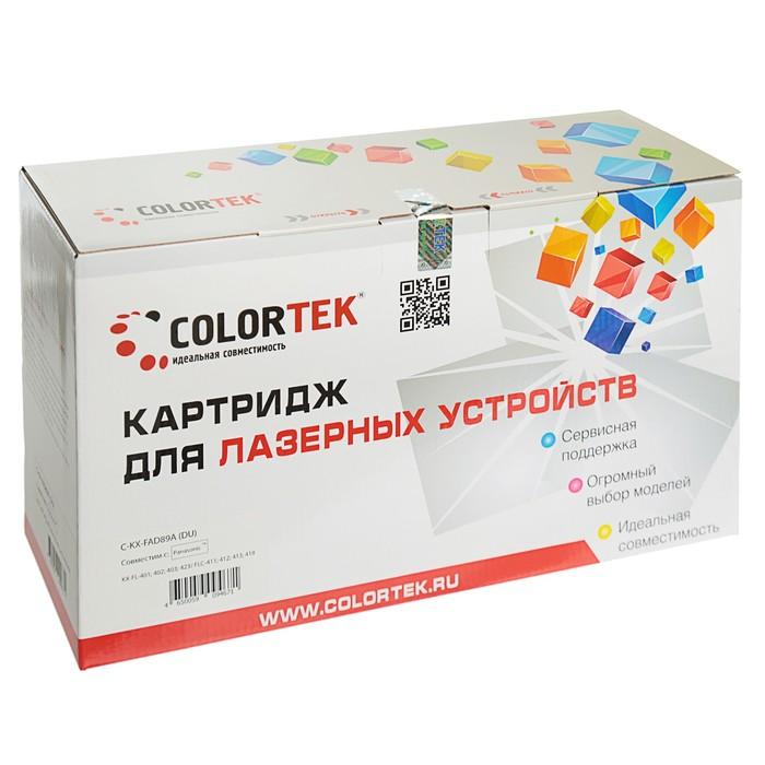 Фотобарабан Colortek KX-FAD89A для Panasonic KX-FL401/402/403/422/411/412/413(10000k),черный