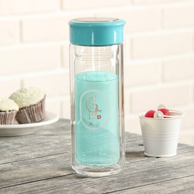"""The bottle, 350 ml of """"Heat"""", double glass, MIX colors"""