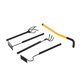 Набор инструмента TORNADICA «Мини 4», 4 предмета: рыхлитель, грабли, культиватор, бороздовичок
