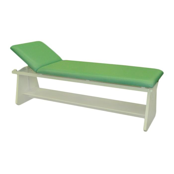 Кушетка физиотерапевтическая с полкой, 2000х650х600 мм, зелёная
