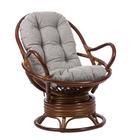 Кресло-качалка SWIVEL ROCKER МИ без подушки, цвет коньяк