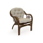Кресло ROMA МИ с подушкой, цвет коньяк