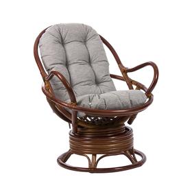 Кресло-качалка PAPASUN SWIVEL ROCKER МИ c подушкой, цвет коньяк