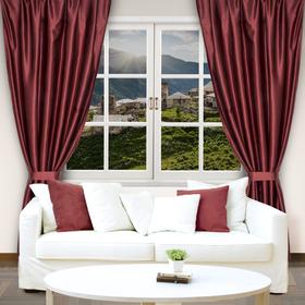 "Curtain drape ""Ethel"" 200х250, the color purple, satin, 100% p/e"