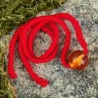"Charm bracelet ""the Red thread. Brandy ball"" pendant, amber"