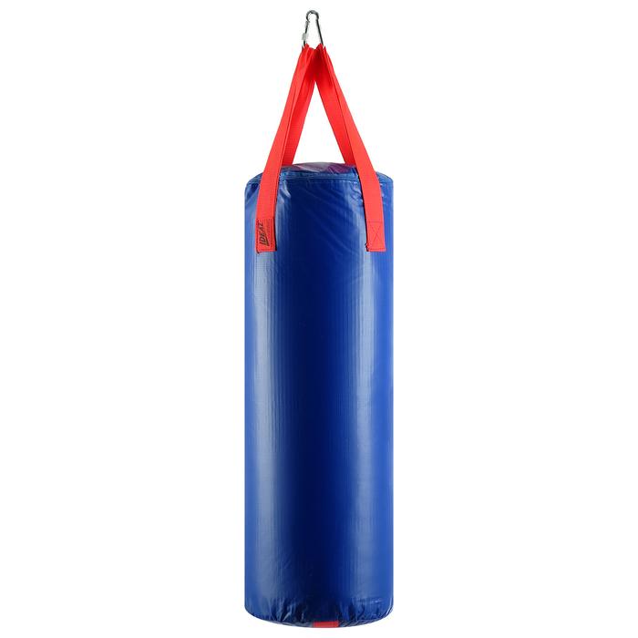 Мешок боксерский на ременной ленте 15кг, цвет Синий