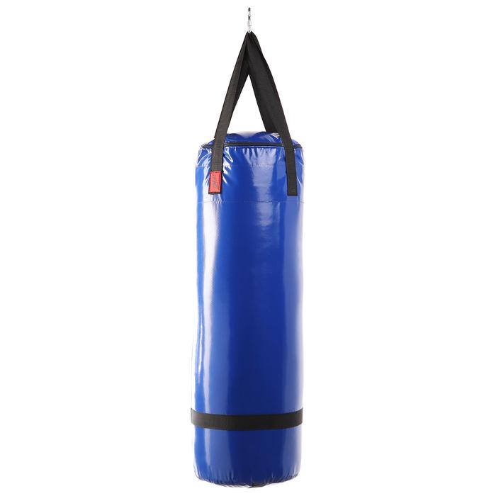 Мешок боксерский на ременной ленте 30кг, цвет Синий
