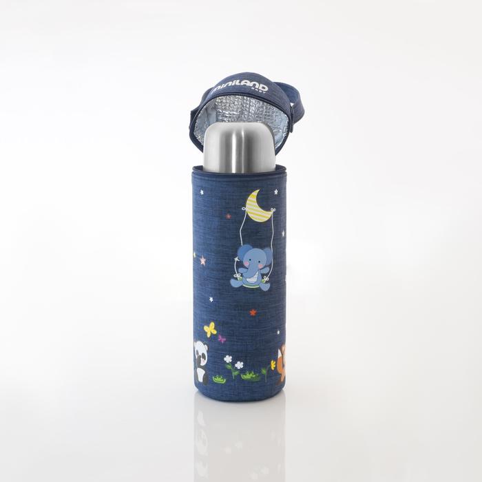 Термосумка для бутылочек Denim 500 мл, синяя
