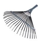 Грабли веерные, пластинчатые, 22 зубца, оцинкованная сталь, без черенка