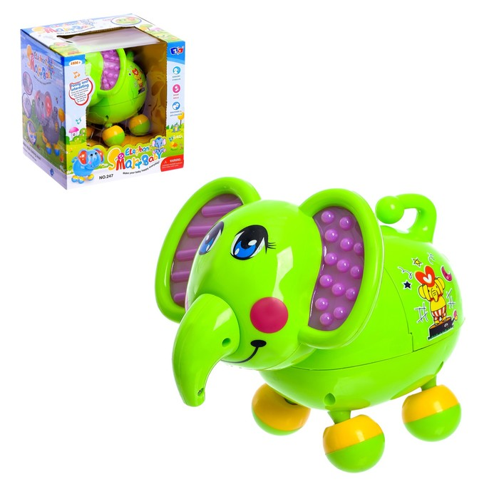 Развивающая игрушка «Слоник», световые и звуковые эффекты, двигается