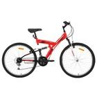 """Велосипед 26"""" Mikado Explorer, 2018, цвет красный/белый, размер 18"""""""