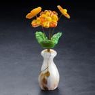 Сувенир «Ваза цветов», герберы, 5 цветков, 11×22 см, селенит
