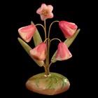 Сувенир «Колокольчики», 5 цветков, 10×12 см, селенит