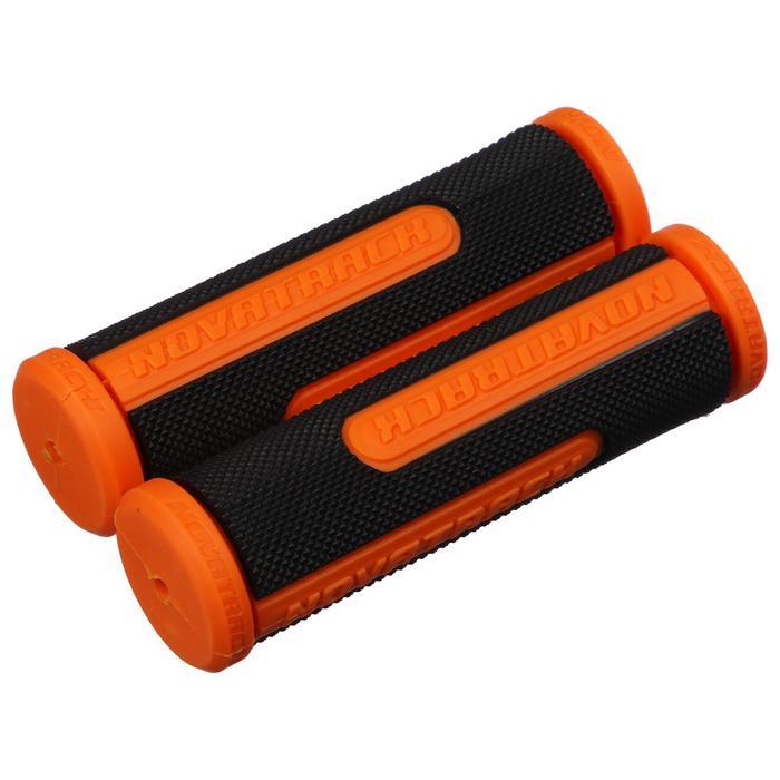Грипсы Novatrack, 110 мм, цвет чёрный-оранжевый