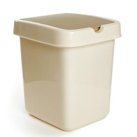 Контейнер для мусора Svip «Квадра», 14 л, цвет кофейный