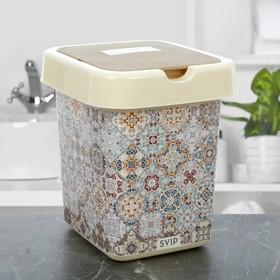 Контейнер для мусора 9 л «Декор. Марокко»