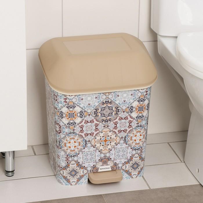"""Контейнер для мусора с педалью 15 л """"Декор. Марокко"""" - фото 4645667"""