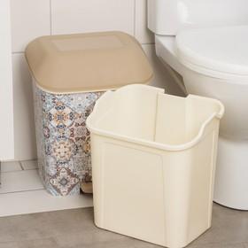 """Контейнер для мусора с педалью 15 л """"Декор. Марокко"""" - фото 4645668"""