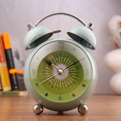 """Будильник """"Фрукты"""", d=8.5 см, плавный ход, с подсветкой, металл микс"""