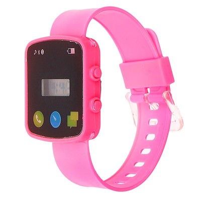 Electronic wrist watch with silicone strap, the dial of the imitation, square, MIX, 24 cm
