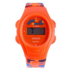 Часы наручные детские 'Солдатик' электронные, с силиконовым ремешком, хаки микс  4х23 см Ош