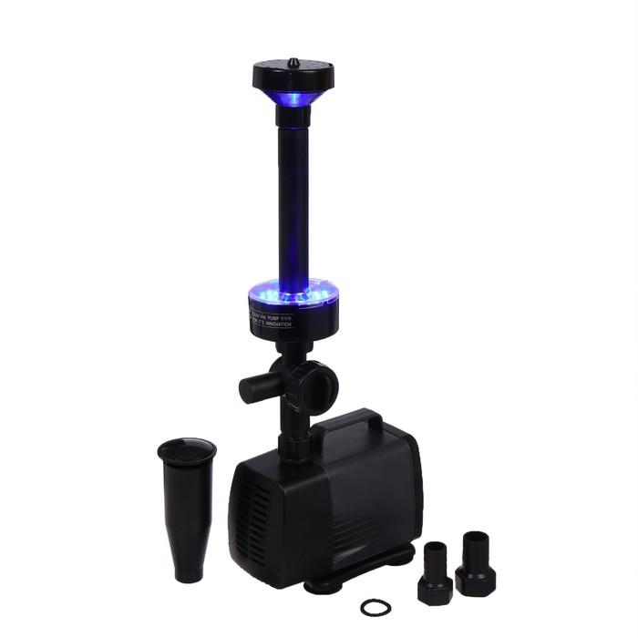 Фонтан для садового водоёма LED-5800FP, 40 Вт, h = 3 м, 3500 л/ч, LED 30 ламп