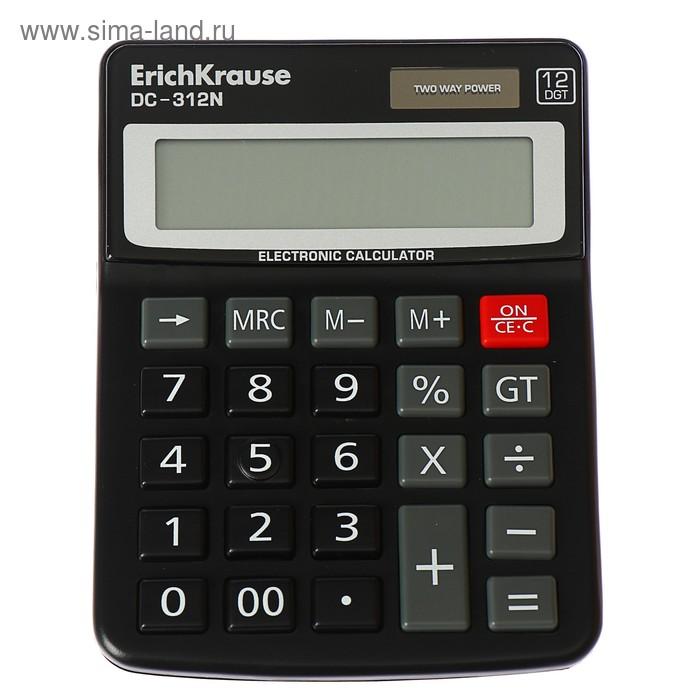 Калькулятор настольный 12-разрядный Erich Krause DC-312N