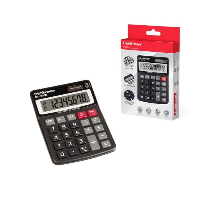 Калькулятор настольный 8-разрядный Erich Krause DC-308N - фото 684811776