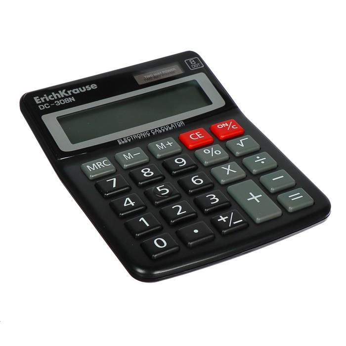 Калькулятор настольный 8-разрядный Erich Krause DC-308N - фото 447544260
