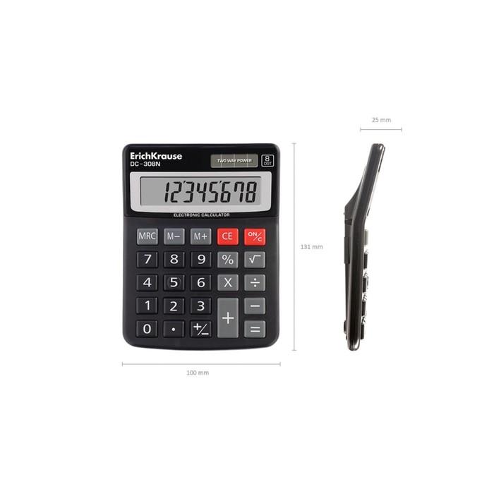 Калькулятор настольный 8-разрядный Erich Krause DC-308N - фото 447544261