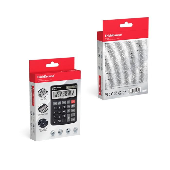 Калькулятор настольный 8-разрядный Erich Krause DC-308N - фото 447544262