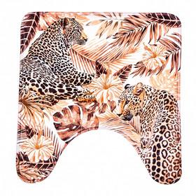 """Коврик в ванную комнату """"Леопарды"""""""