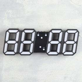 "Часы-будильник электронные ""Цифры"", термометр, 9.5 х 23 см, от USB"