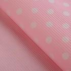"Бумага упаковочная гофрированная ""Круги"", розовый, 0,7 х 5 м"